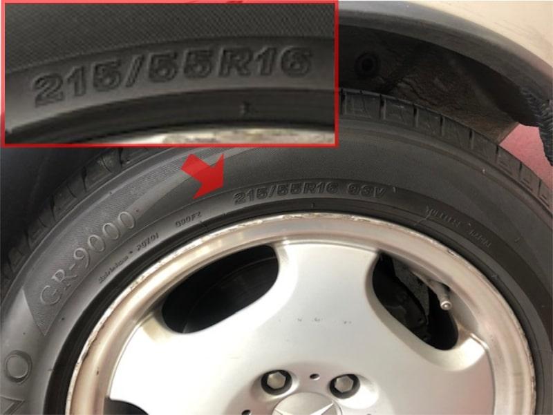 タイヤサイズ 表記