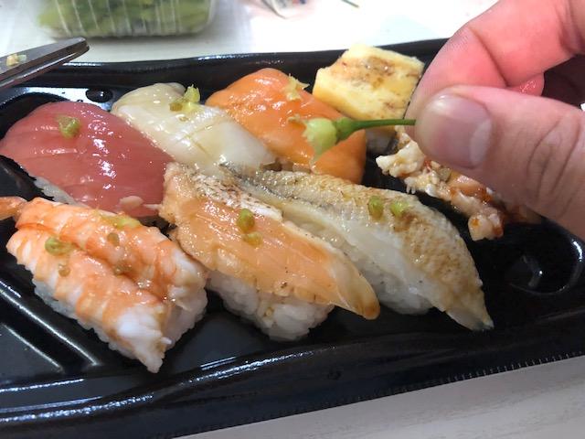 島唐辛子と寿司